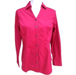 Merona| Blouse Red Button-up Cotton Work